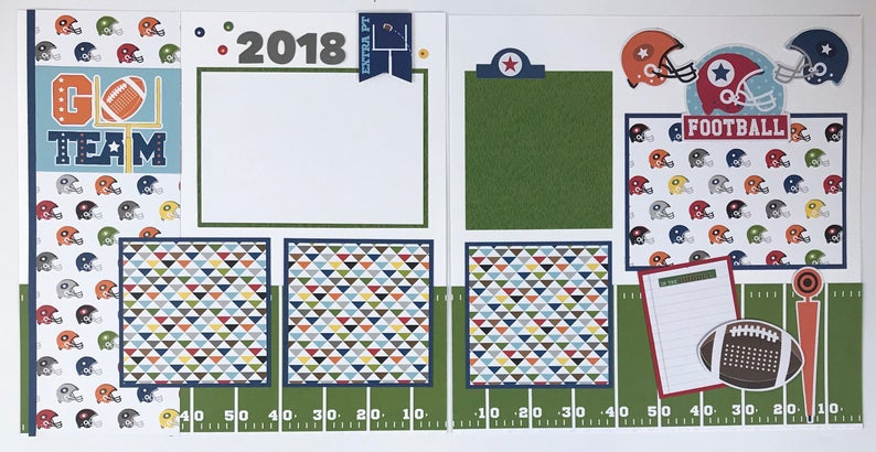 12x12 Football Layout Instructions, Digital Download