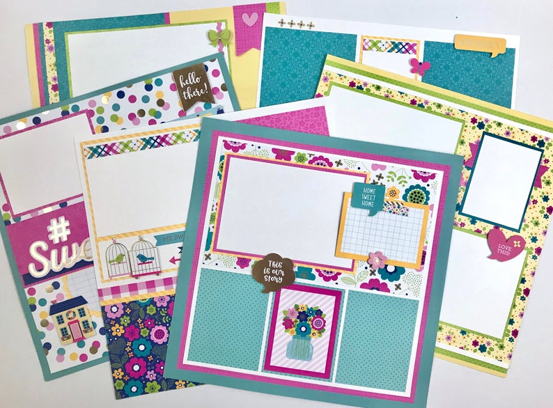 12x12 Family or Friend Layout Instructions, Digital Download