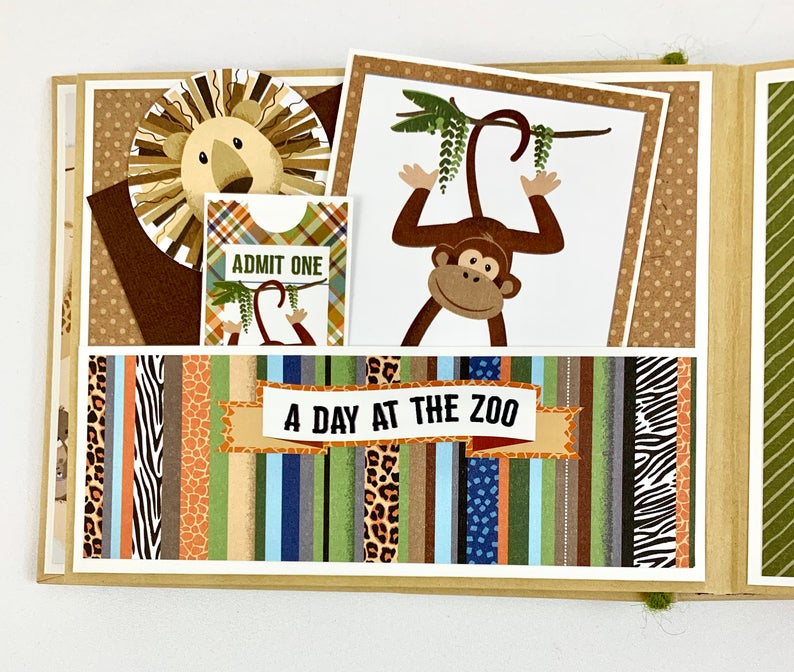 Fun Day at the Zoo Album Instructions, Digital Download