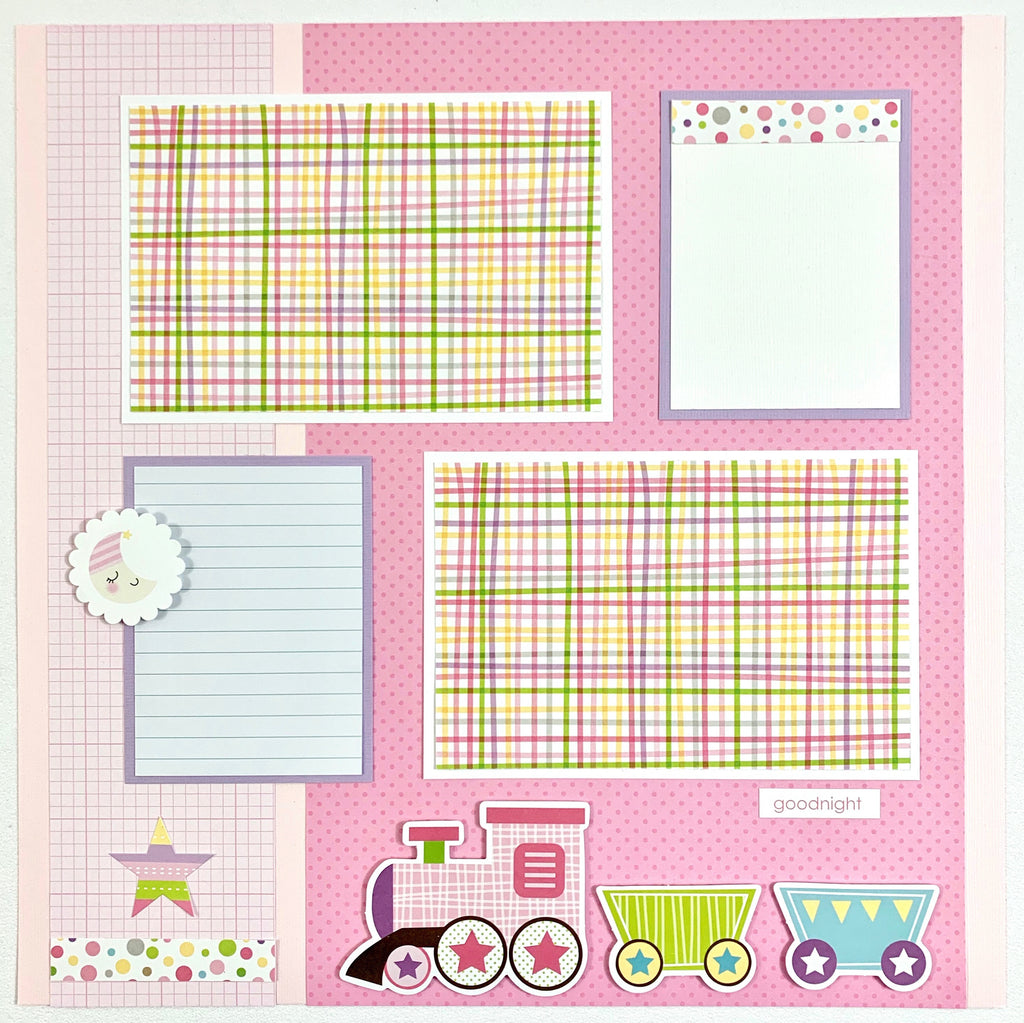 Baby Girl Scrapbook Page Kit by Artsy Albums