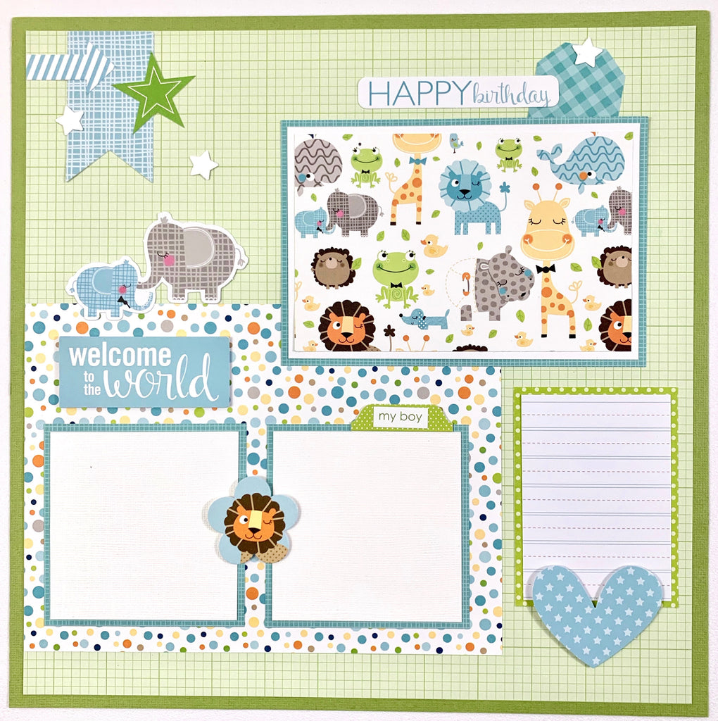 Baby Boy Scrapbook Page Kit by Artsy Albums
