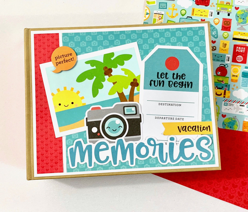 Vacation Memories Mini Album Instructions, Digital Download