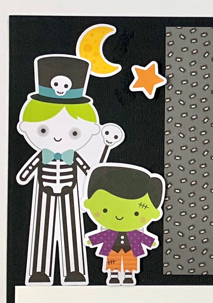 Halloween Scrapbook Page Kit by Artsy Albums