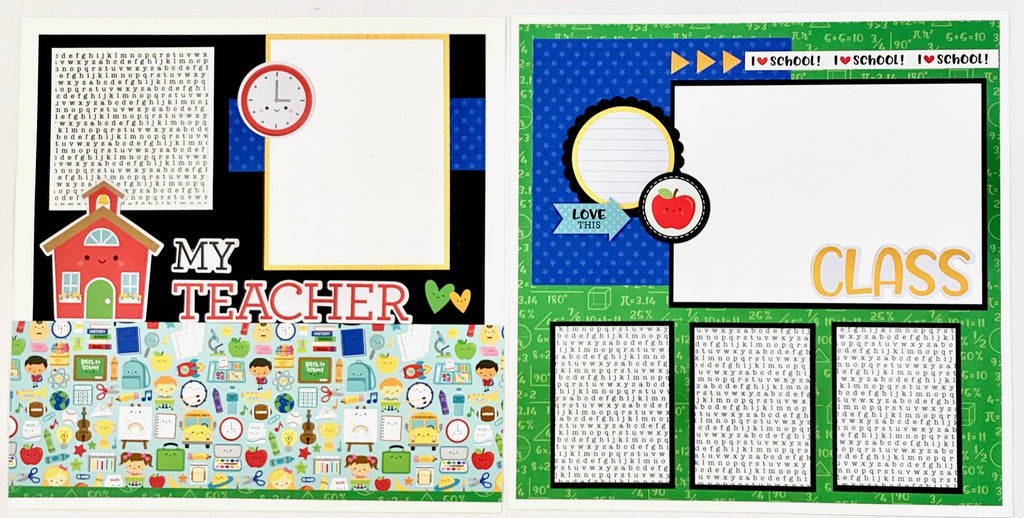 School Scrapbook Page Kit by Artsy Albums