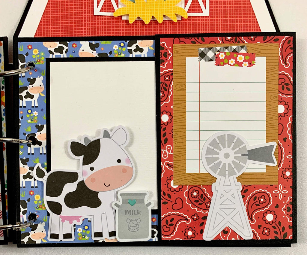Farm Scrapbook Album Instructions, Digital Download
