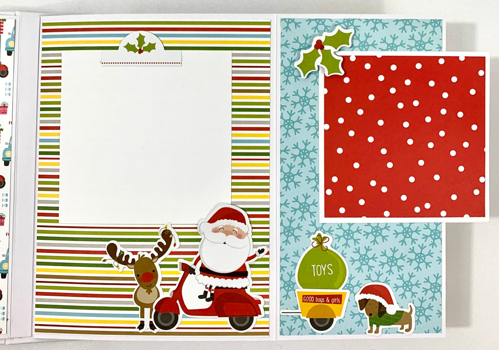 Santa Squad Christmas Scrapbook Album Instructions, Digital Download