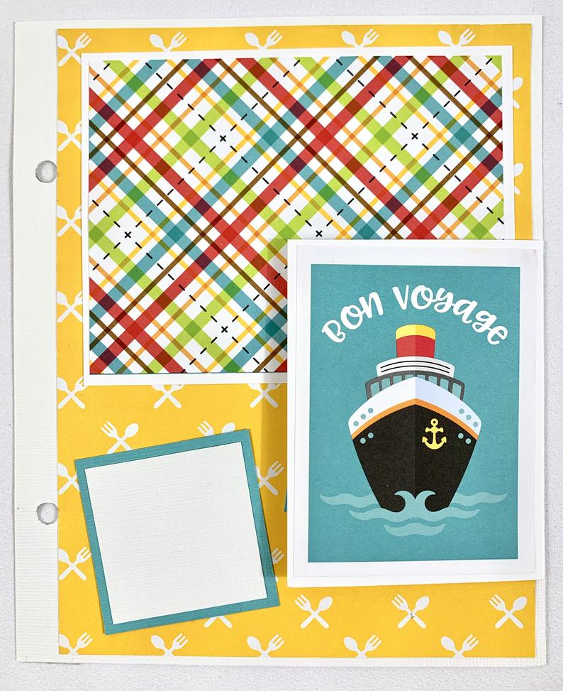 Cruise Scrapbook Album Instructions, Digital Download