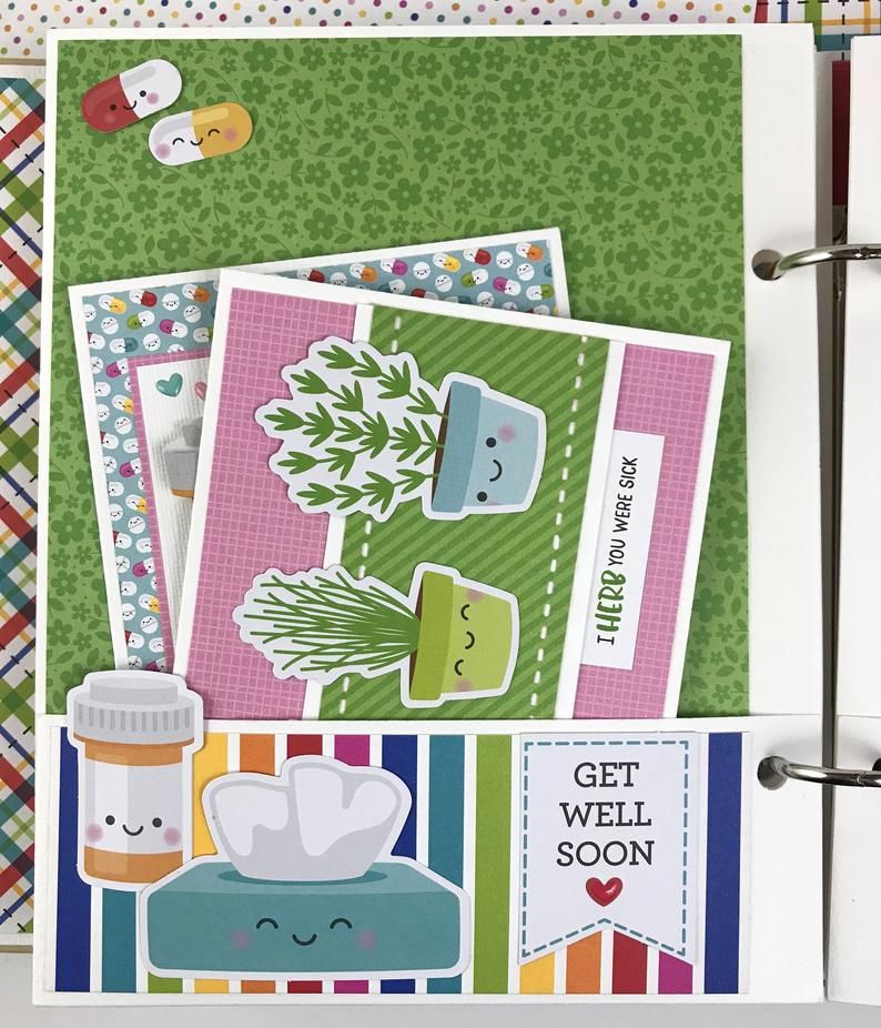 Sending Hugs Card Organizing Album (plus 12 cards) Instructions, Digital Download
