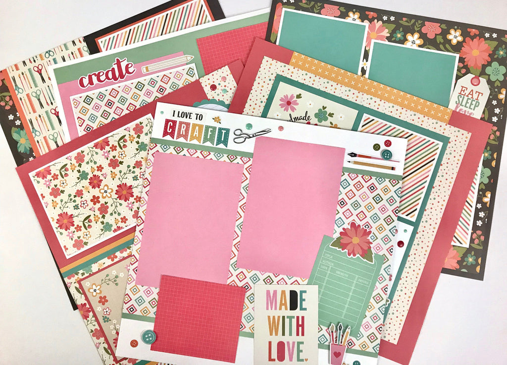 12x12 Made With Love Crafting Layout Instructions, Digital Download