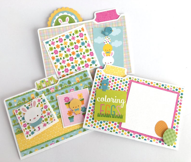 Easter Scrapbook Photo Crate Instructions, Digital Download