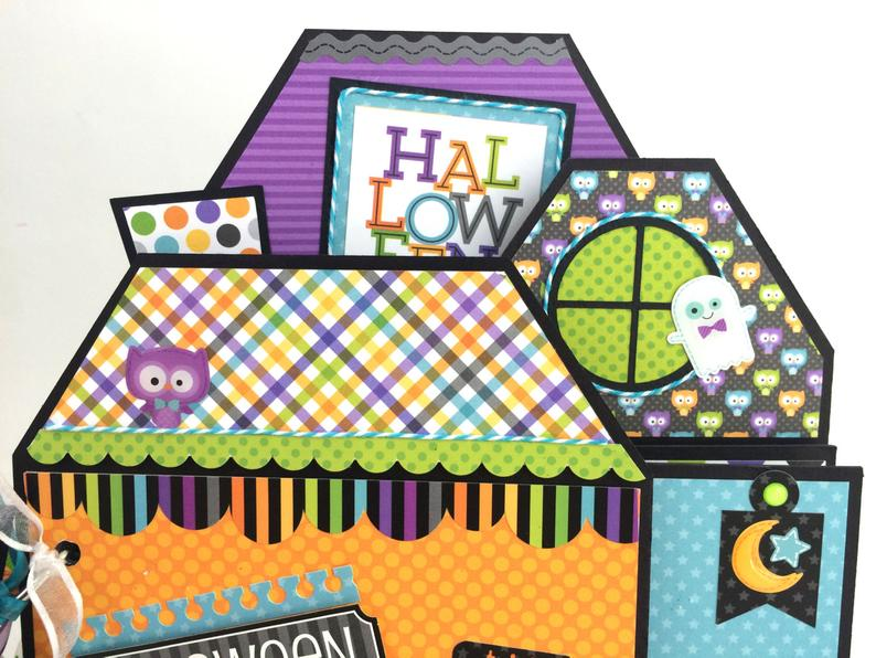 Haloween House Scrapbook Album Instructions, Digital Downloads