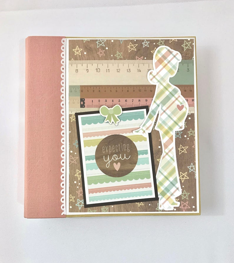 Pregnancy Scrapbook Album Instructions, Digital Download