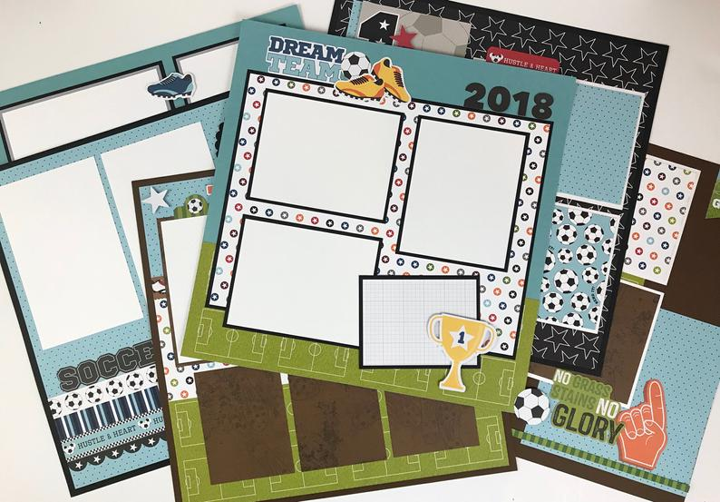 12x12 Soccer Layout Instructions - Digital Download