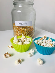 Reuze It Silicone Muffin Moulds with Popcorn