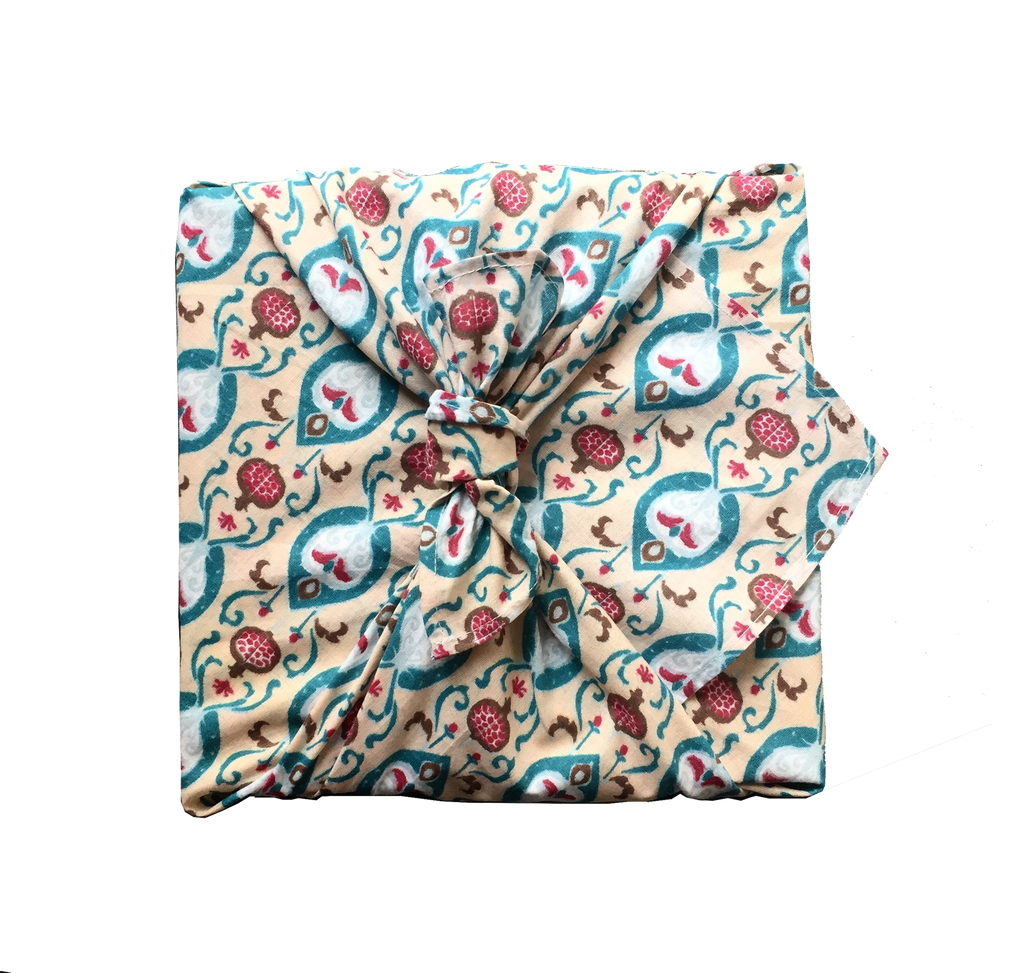 Fabric Wrapping Paper - Teal Single Sided