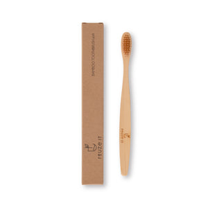 Bamboo Toothbrush - 4pk | Dental Care | Reuze It | Eco Store | Eco Friendly Products