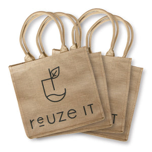 Jute Shopping Bag - 4 Pack | Shopping Bag | Reuze It | Eco Store | Eco Friendly Products