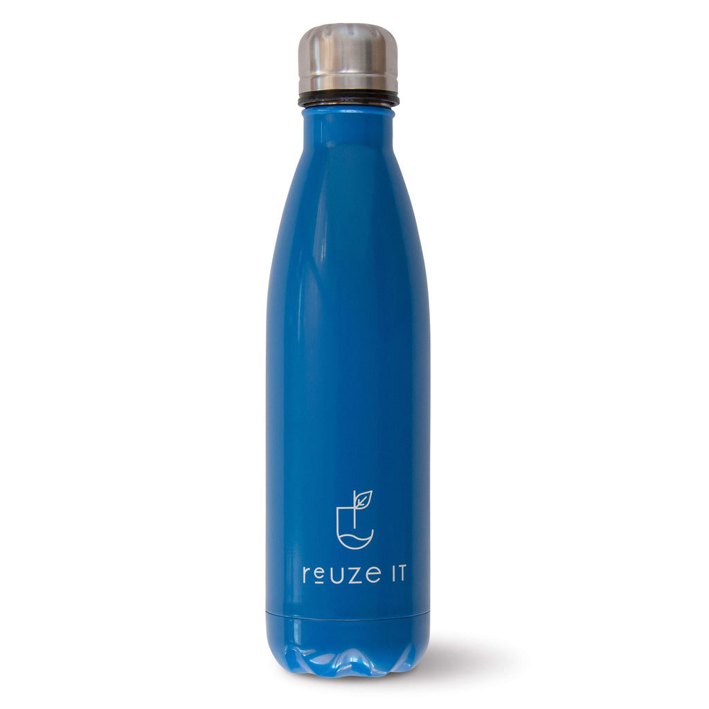 Stainless Steel Drink Bottle - Blue | Drink Bottles | Reuze It | Eco Store | Eco Friendly Products