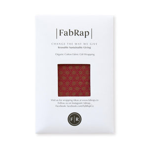 Fabric Wrapping Paper - Ruby Single Sided