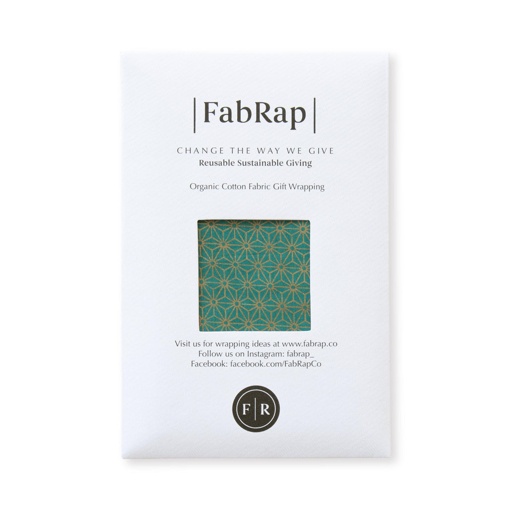 Fabric Wrapping Paper - Jade Single Sided | Gift Wrapping | Reuze It | Eco Store | Eco Friendly Products