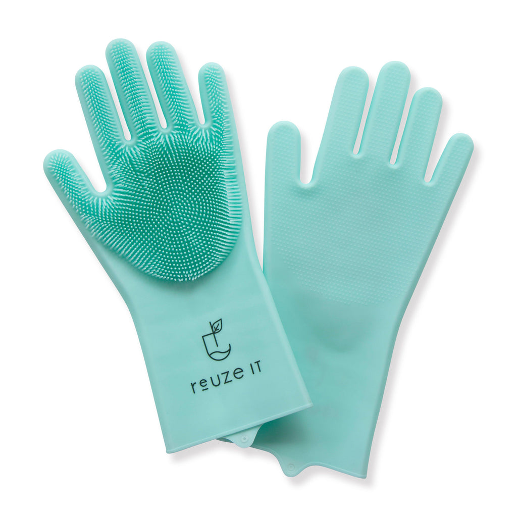 Silicone Cleaning Gloves - Aqua