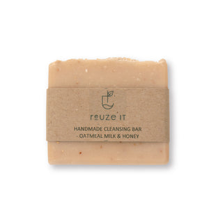 Cleansing Bar - Oatmeal Milk & Honey | Soap | Reuze It | Eco Store | Eco Friendly Products