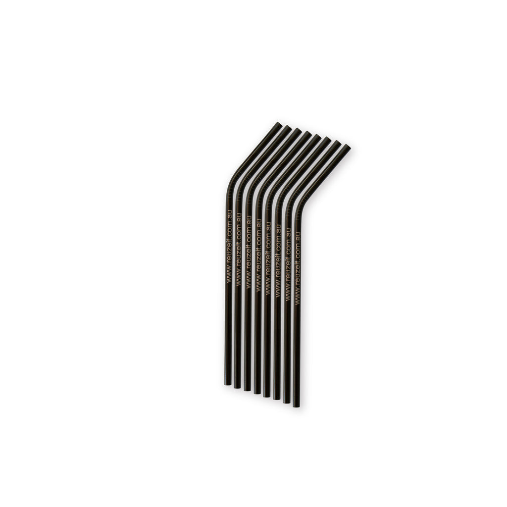 Stainless Steel Straws Black (Bent) | Straws | Reuze It | Eco Store | Eco Friendly Products