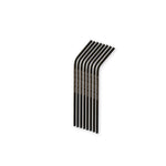 Stainless Steel Straws Black (Bent)