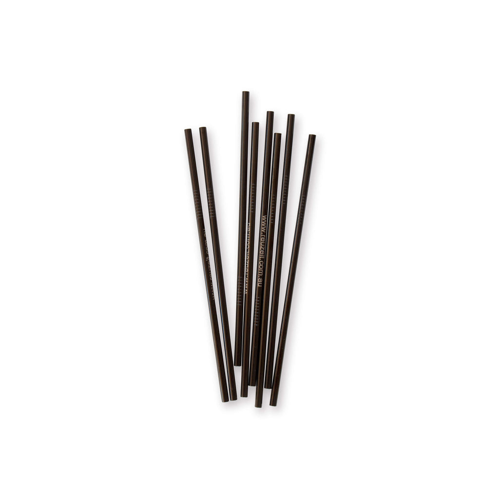 Stainless Steel Straws Black (Straight)