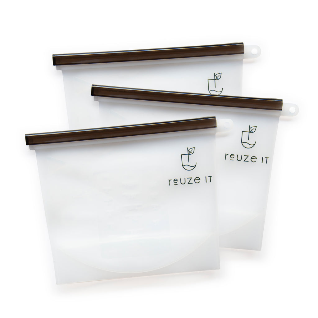 Silicone Zip Lock Bags - 3 Pack