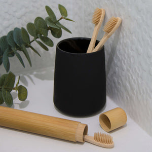 Bamboo Toothbrush with Holder | Dental Care | Reuze It | Eco Store | Eco Friendly Products