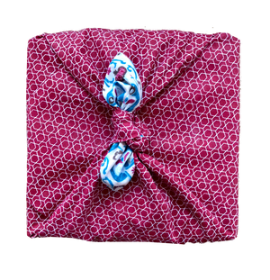 Fabric Wrapping Paper - Teal & Cherry Double Sided