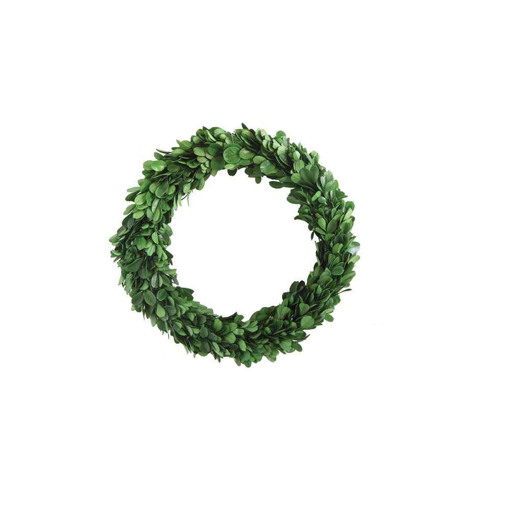 Round Preserved Boxwood Wreath