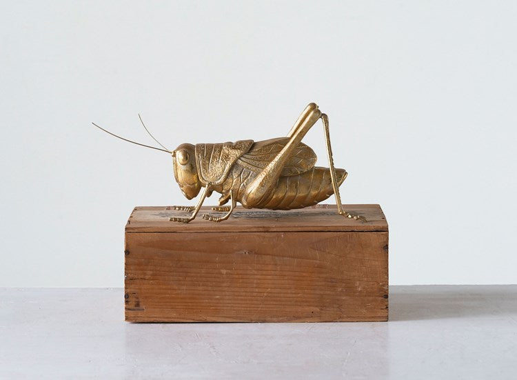 Resin Cricket, Gold Finish