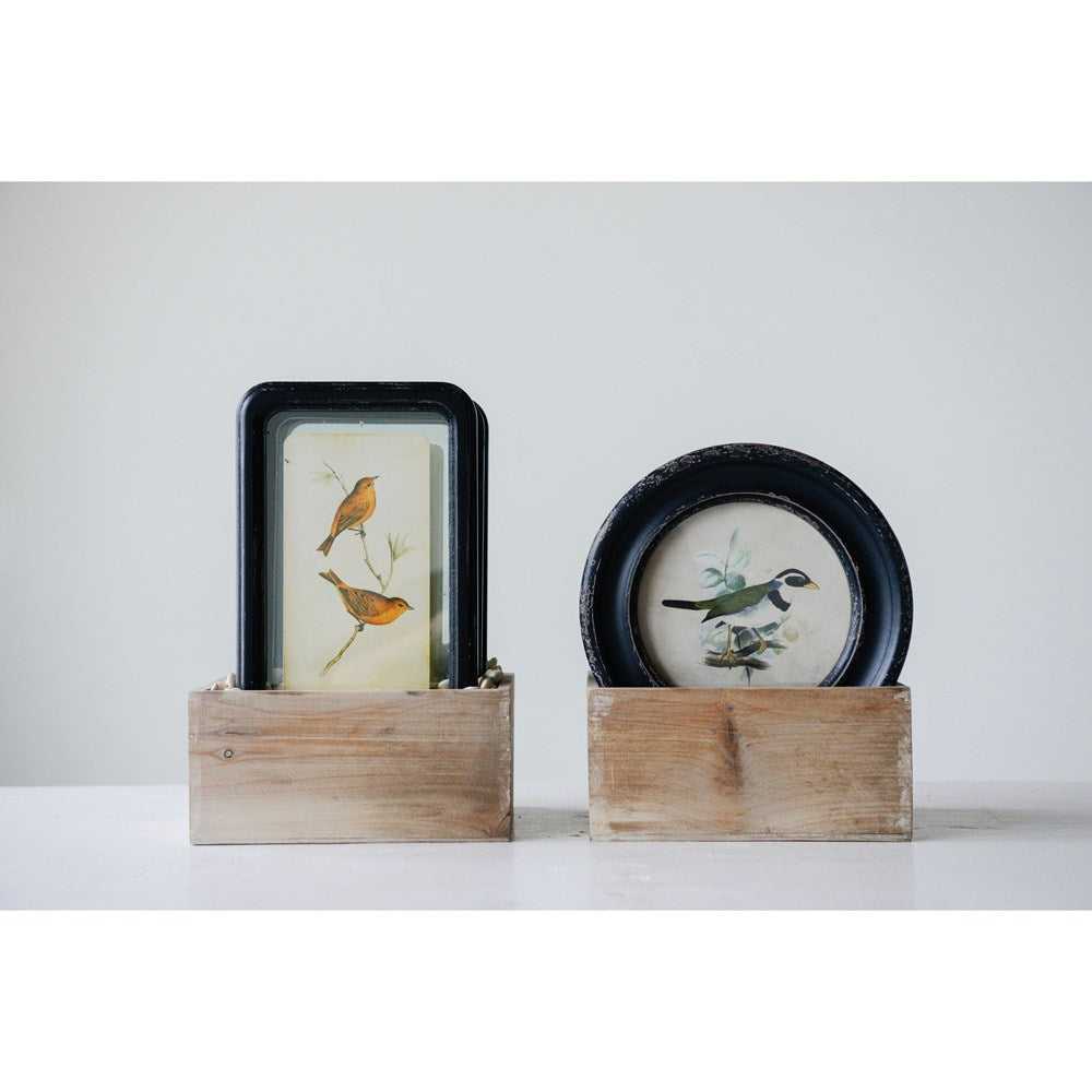 Framed Wall Decor w/ Bird, 4 Styles