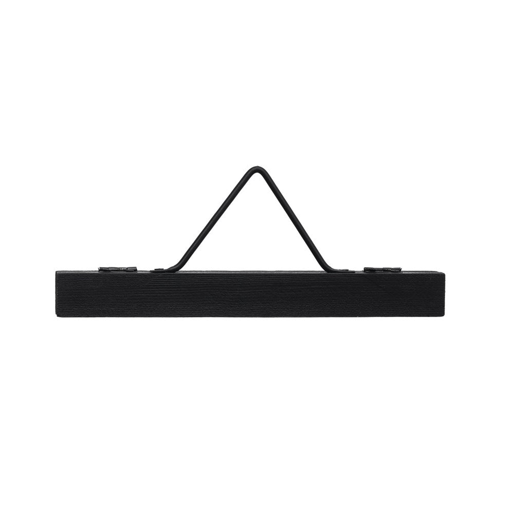 Wood & Metal Hanger with Magnets, Black