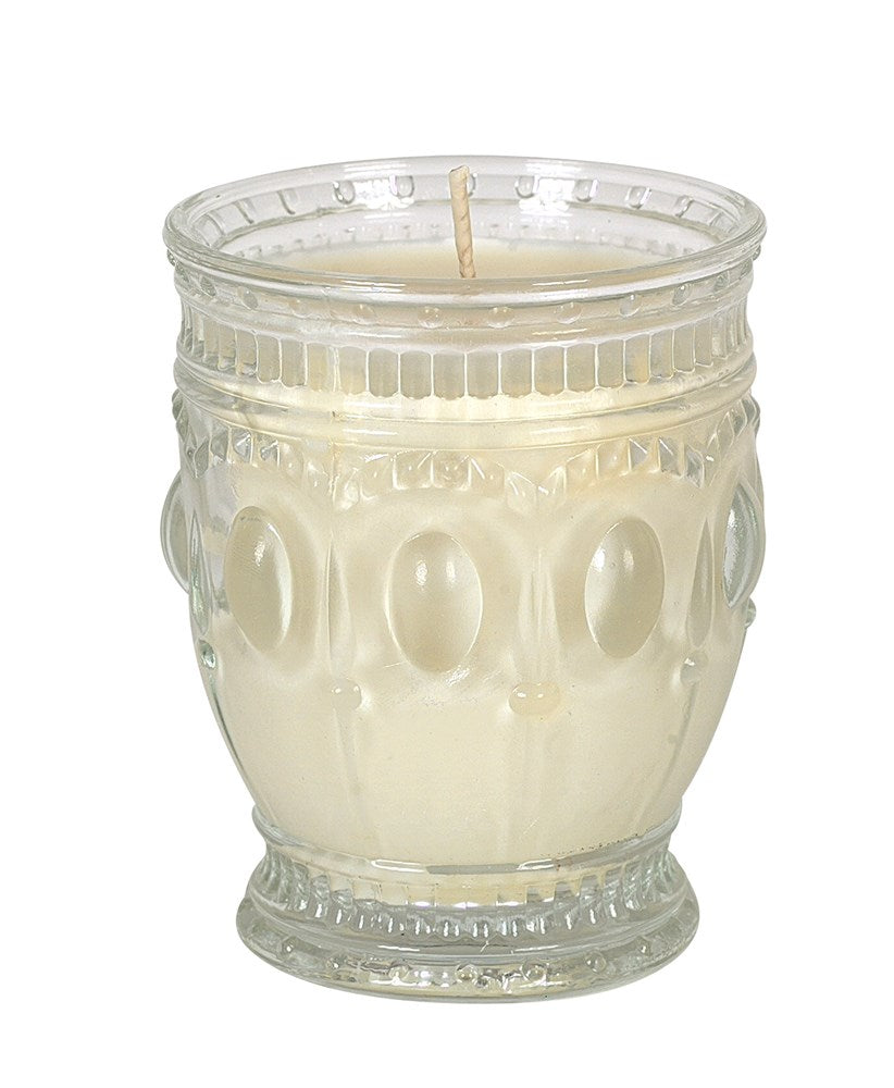 7 oz. Embossed Glass Jar Candle