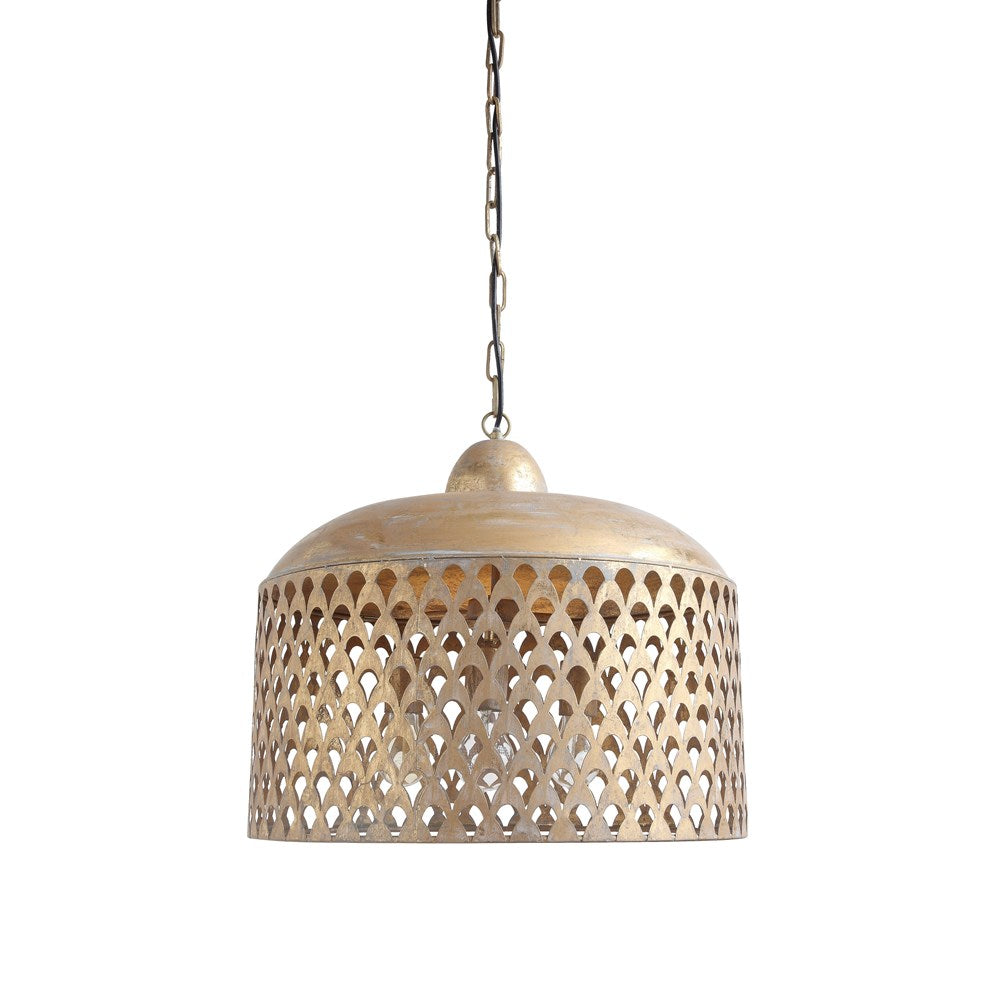 Metal Pendant Lamp w/ Gold Finish