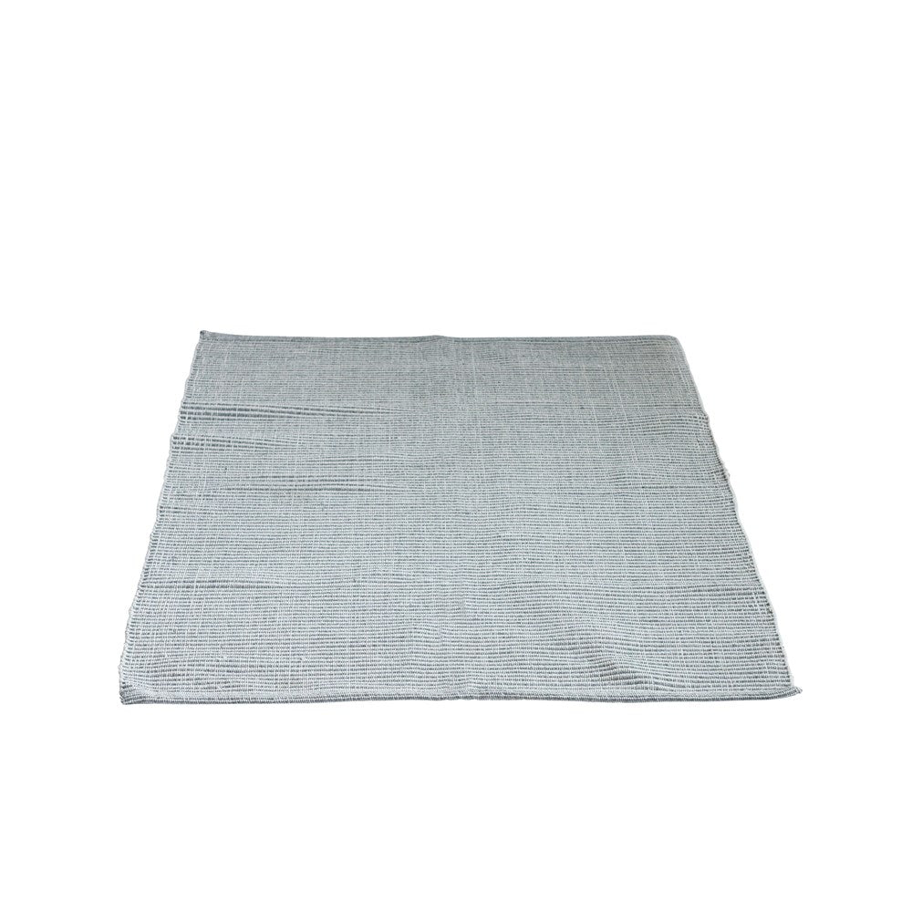 Cotton Woven Striped Rug, Grey