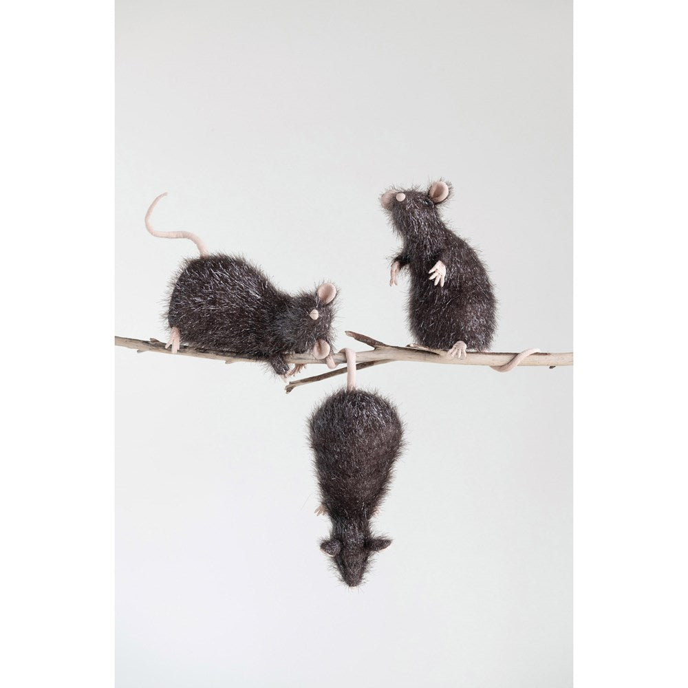 Faux Rat, Black, 3 Styles