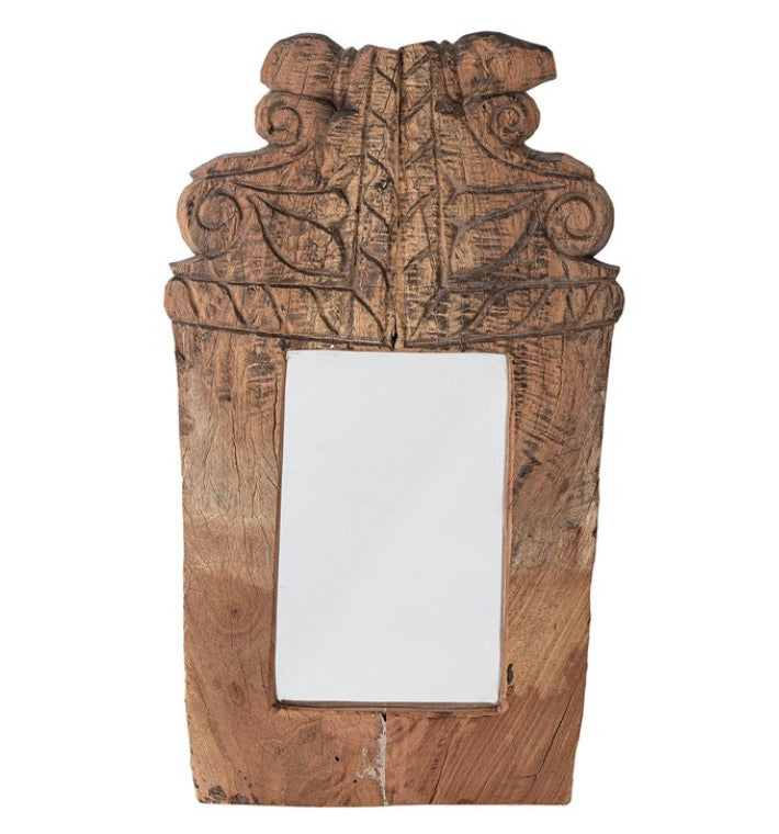 Found Hand-Carved Wood Bannister Moulding Wall Mirror (Each Varies)