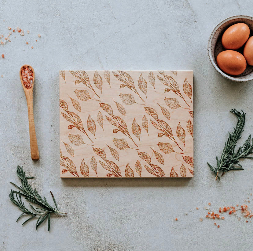 Botanical Etched Cutting Board