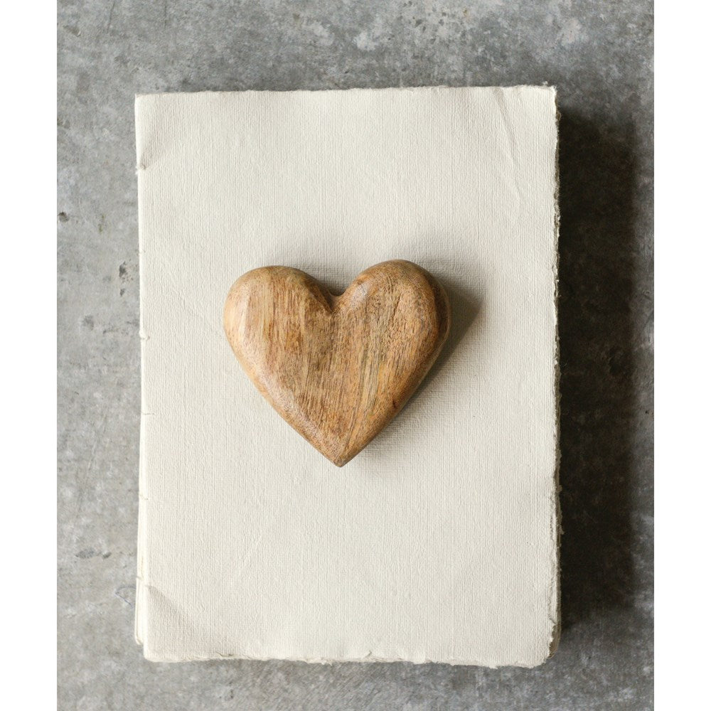 Hand-Carved Mango Wood Heart
