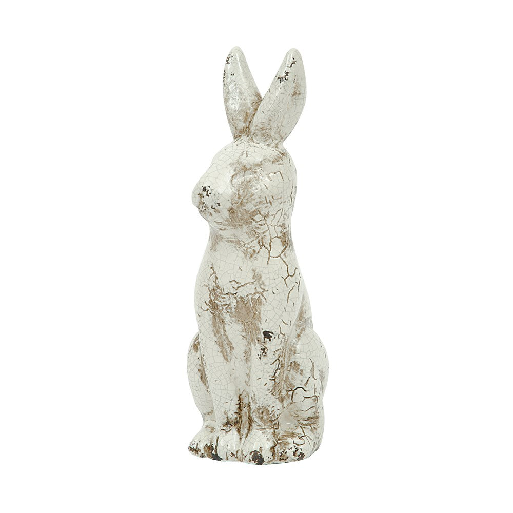 Ceramic Rabbit, Distressed Cream