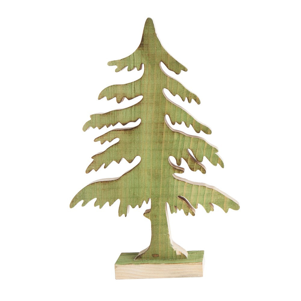 Wood Christmas Tree, Green