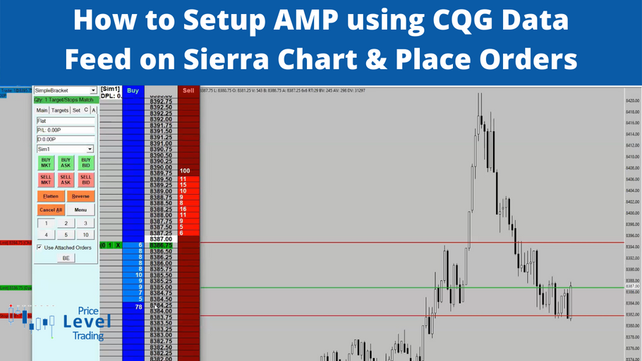 How to Setup AMP using CQG Data Feed on Sierra Chart & Place Orders