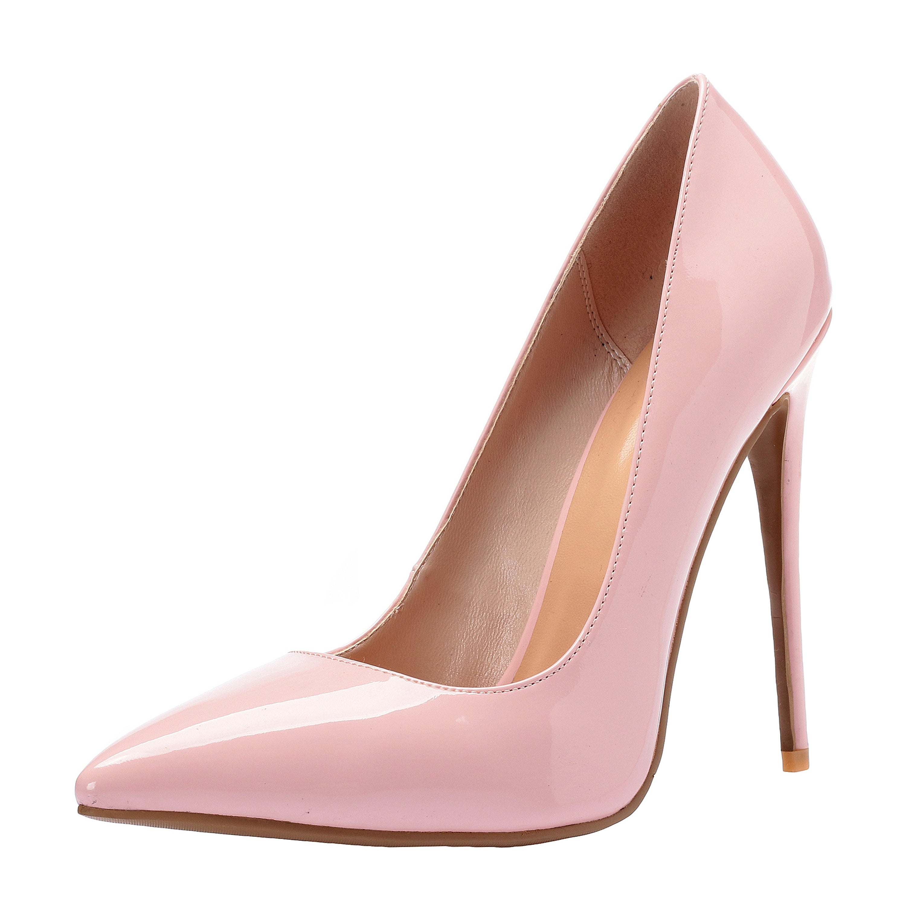 ZAPROMA Women s Pink Patent Synthetic 4.5 Inches High Heels Shoes Dress  Pumps 3269e529f4