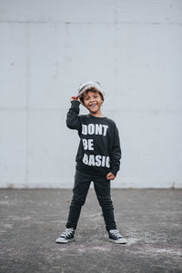 Don't Be Basic Pullover Black