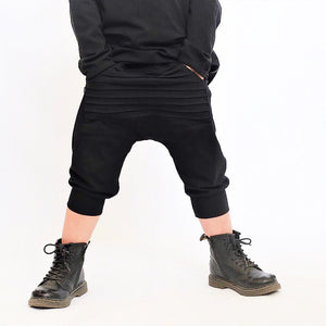 Black Moto Pocket Shorts