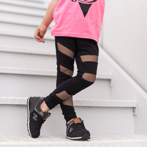 Mesh Cut Out Leggings